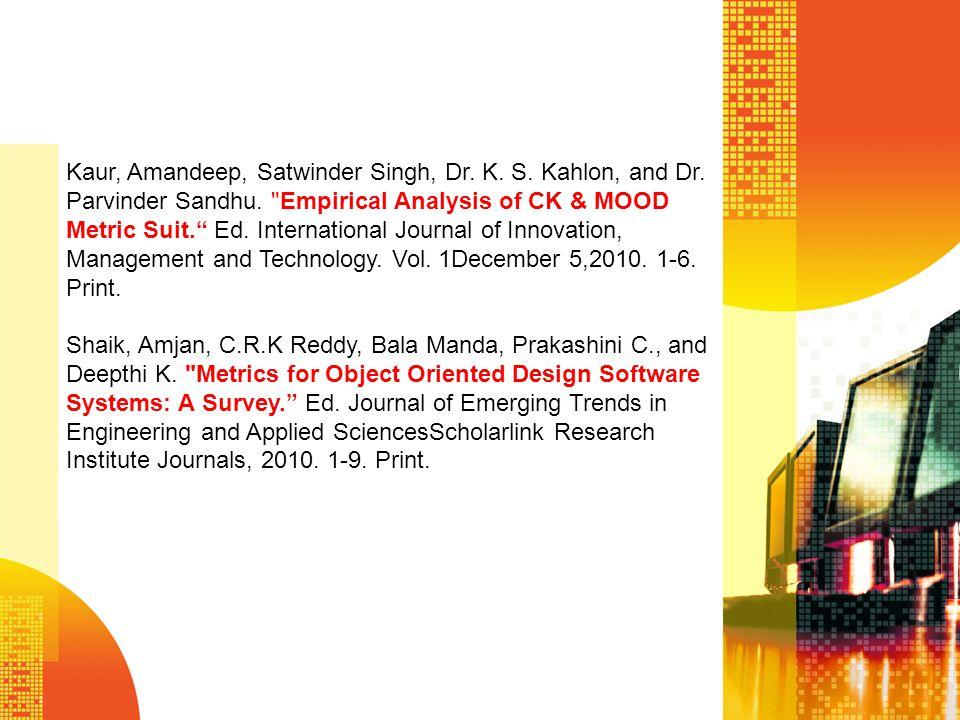 Kaur, Amandeep, Satwinder Singh, Dr. K. S. Kahlon, and Dr. Parvinder Sandhu.
