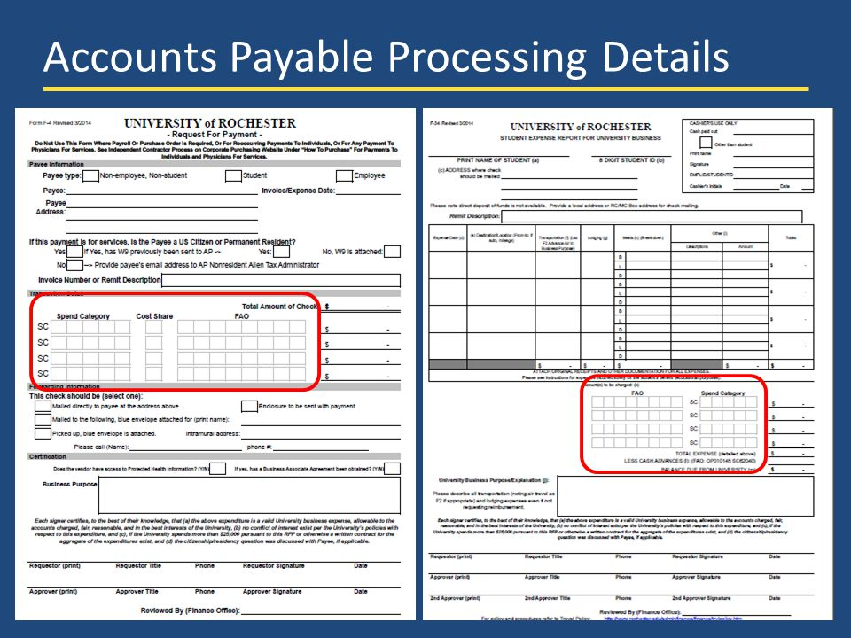 UR Financials Demo Days – March 2014 Accounts Payable Processing Details 18
