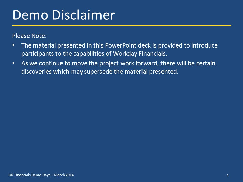 UR Financials Demo Days – March 2014 Accounts Payable Process Changes 15