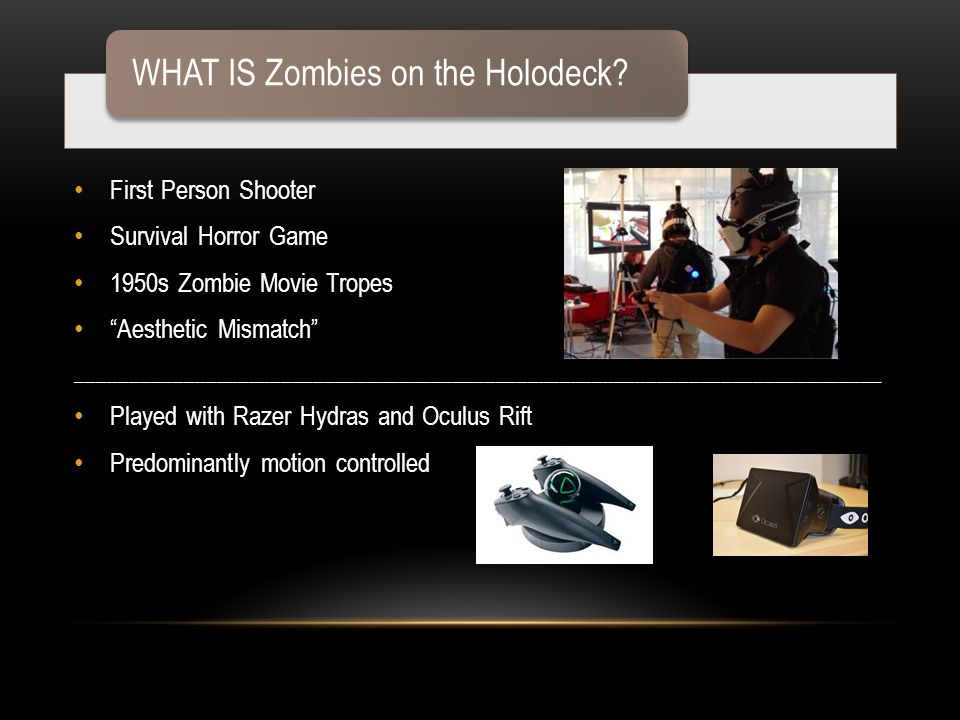 WHAT IS Zombies on the Holodeck.
