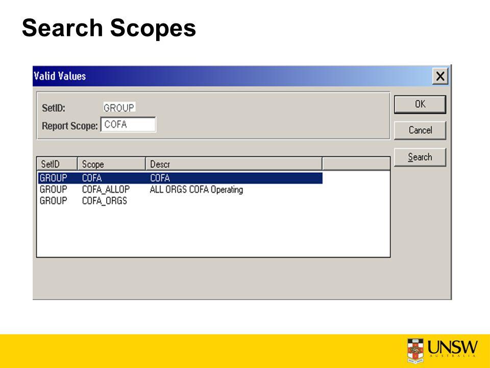 Search Scopes