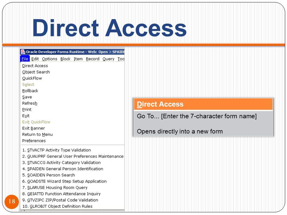 Direct Access 18