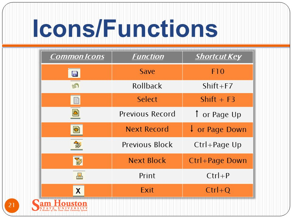 Icons/Functions 21