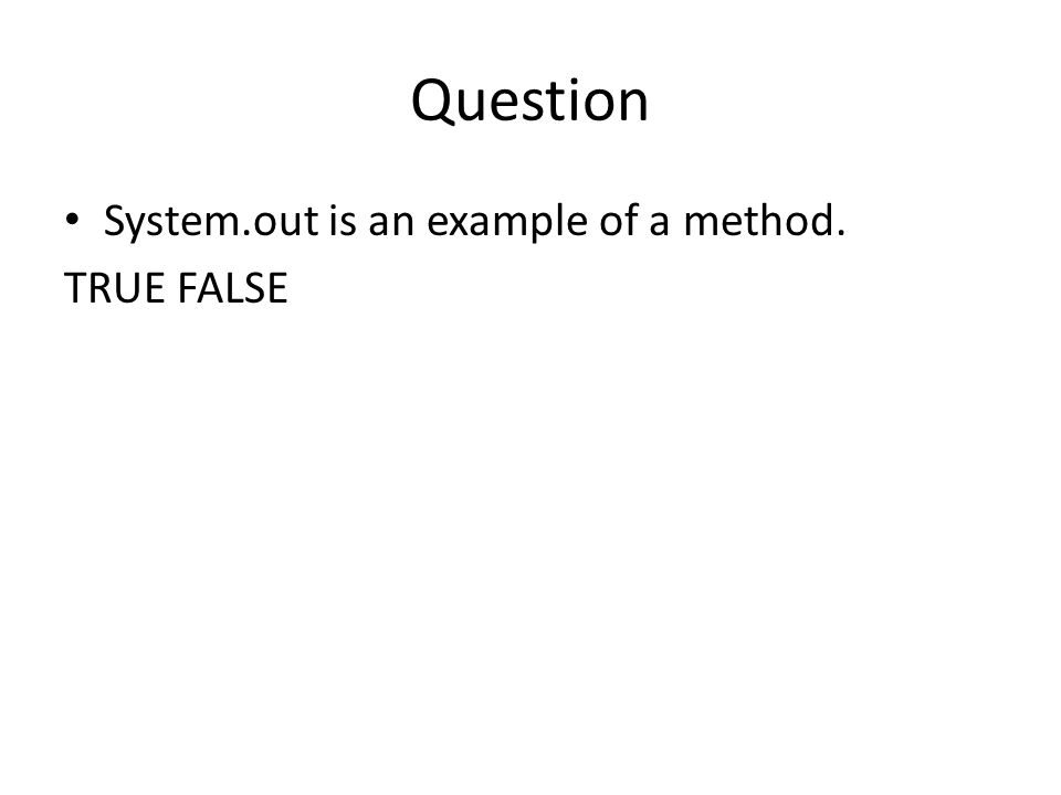 Question A(n) __________ is a data item that belongs to an object.
