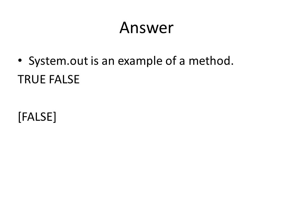 Answer What does the following program print.