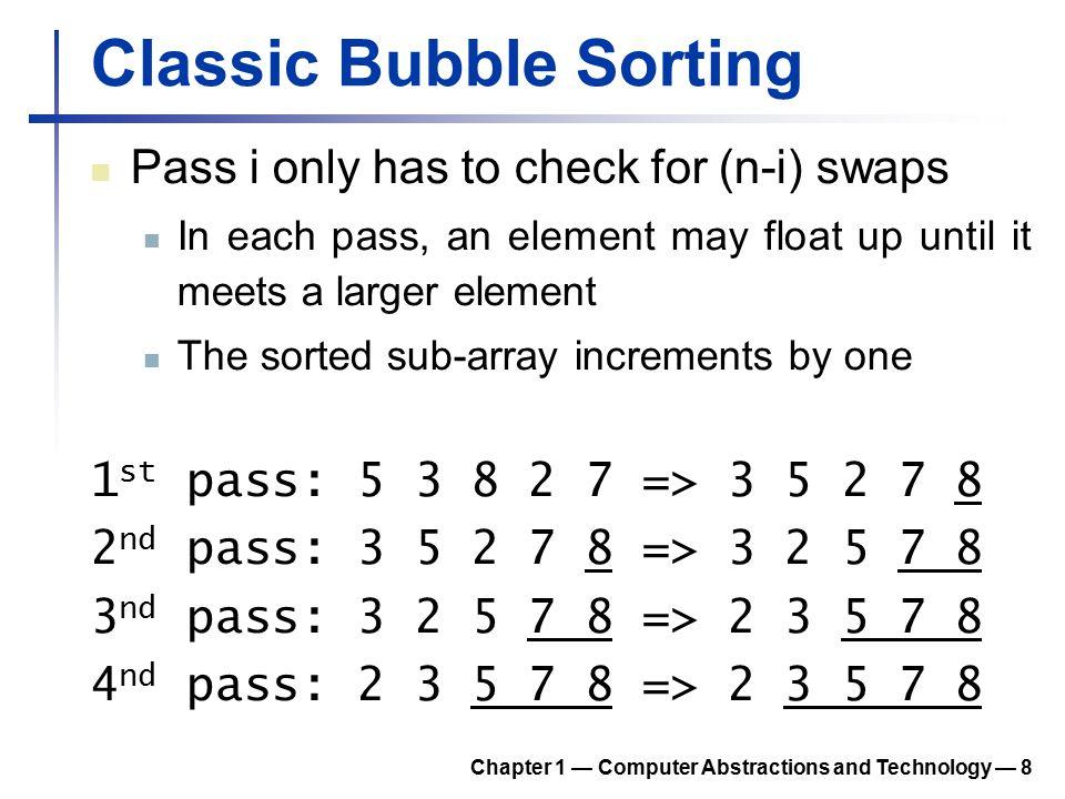 New Swap Function A new swap function swap: lw $t0, 0($a0) # load p[0] lw $t1, 4($a0) # load p[1] slt $t2, $t1, $t0 # p[1] < p[0].