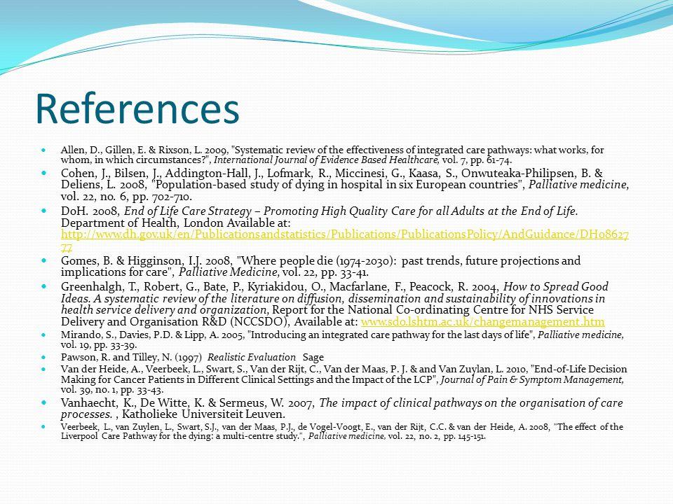 References Allen, D., Gillen, E. & Rixson, L.
