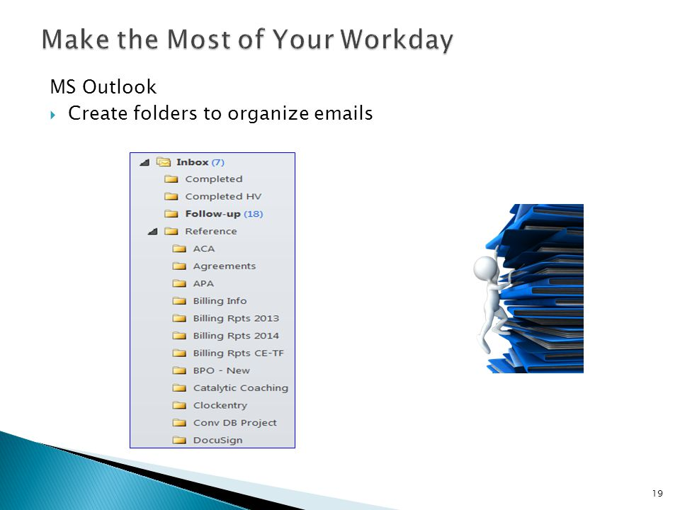 MS Outlook  Create folders to organize emails 19