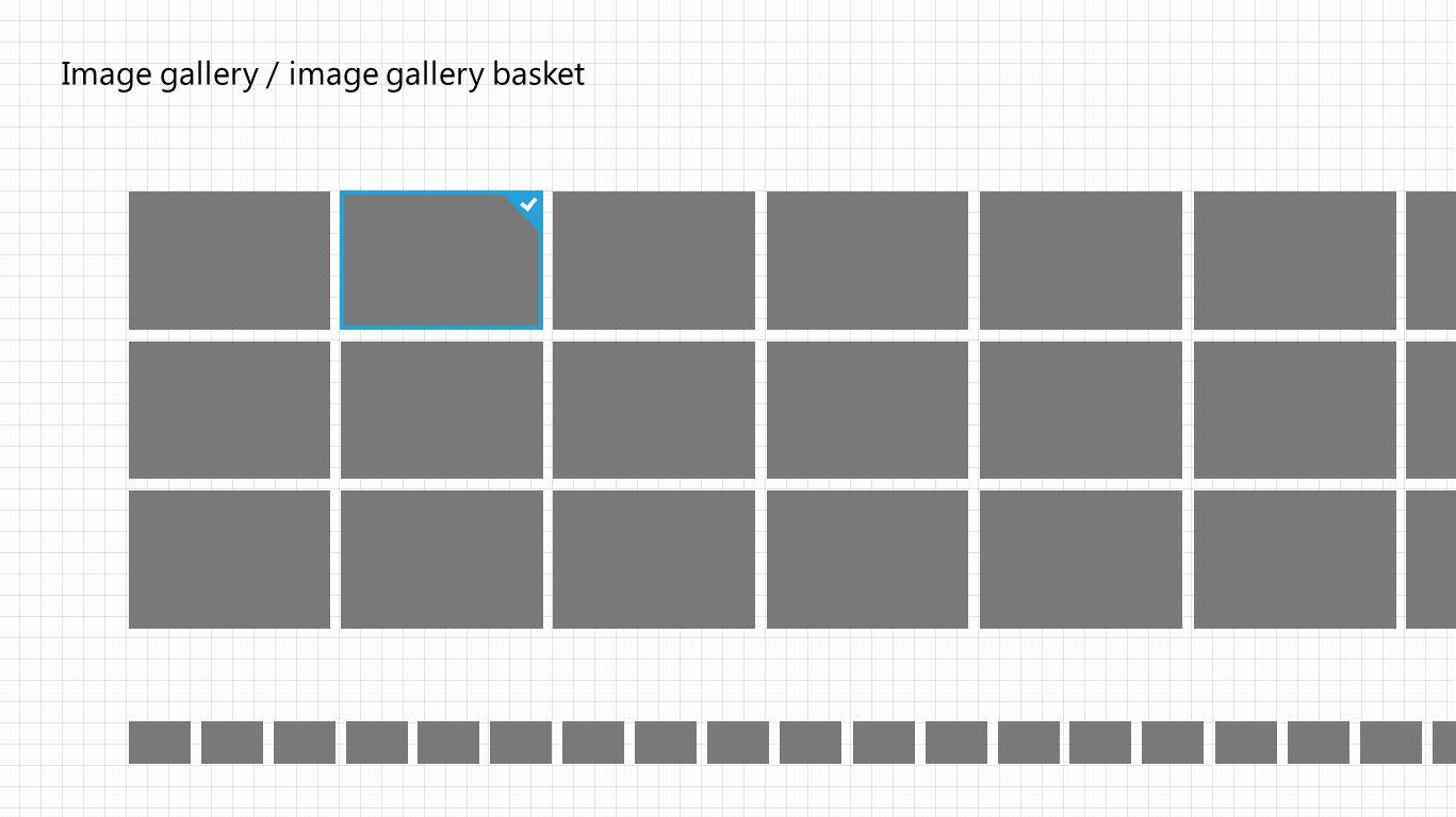 Image gallery / image gallery basket