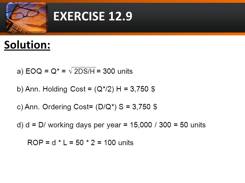 EXERCISE 12.17