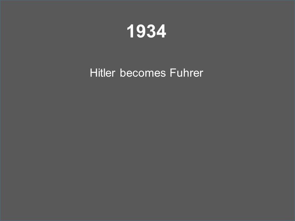 1934 Hitler becomes Fuhrer