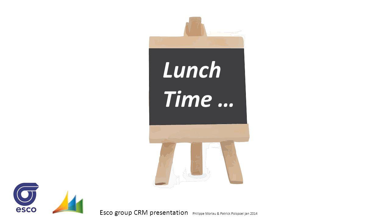 Esco group CRM presentation Philippe Moriau & Patrick Polspoel jan 2014 Lunch Time …