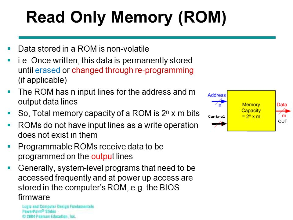 Chapter 3 - Part 1 30 P rogrammable Logic Array (PLA )  Compared to ROMs and PALs, PLA is the most flexible economical device: having programmable ANDs, programmable ORs, and programmable output inversions  Advantages PLA can have large numbers of inputs N and outputs M, permitting implementation of optimized functions that are impractical for a ROM (because of the large number of inputs N required) A PLA has all of its product terms available for connecting to all outputs, overcoming the problem of the limited number of inputs to each PAL OR Any product can be shared by all output functions (sums) Some PLAs have outputs that can be complemented, to give F expressions in terms of product of sum (POS) (inverted SOP of F)  Disadvantage Often the # of product terms limits the application of a PLA.
