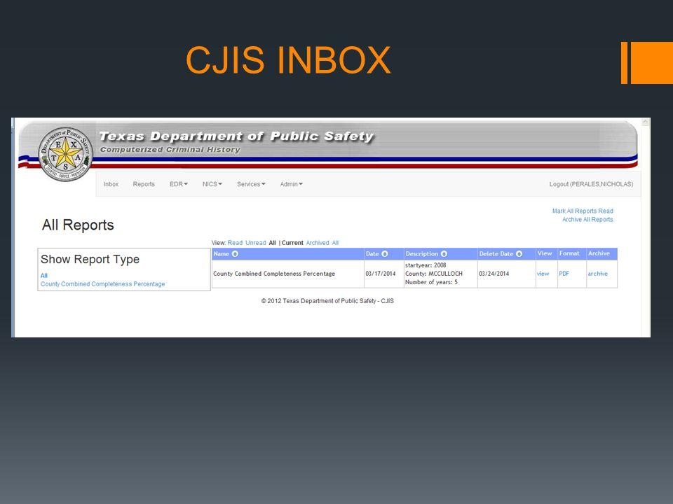 CJIS INBOX