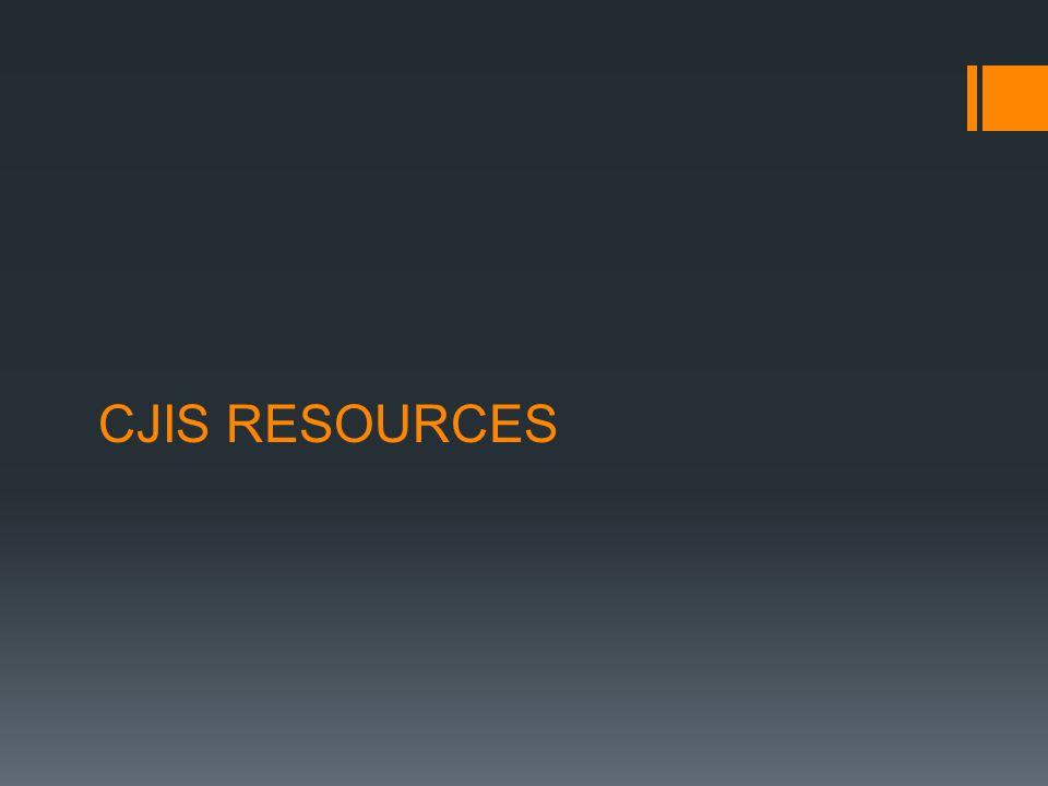 CJIS RESOURCES