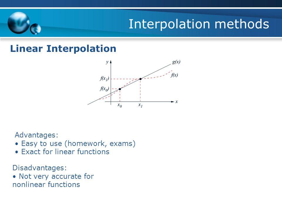 Interpolation methods Linear Interpolation Sin( 0.63 ) = ??