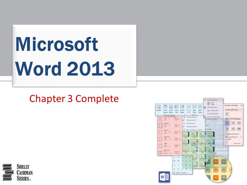 Chapter 3 Complete Microsoft Word 2013