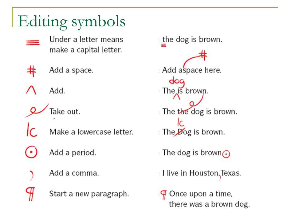 Editing symbols