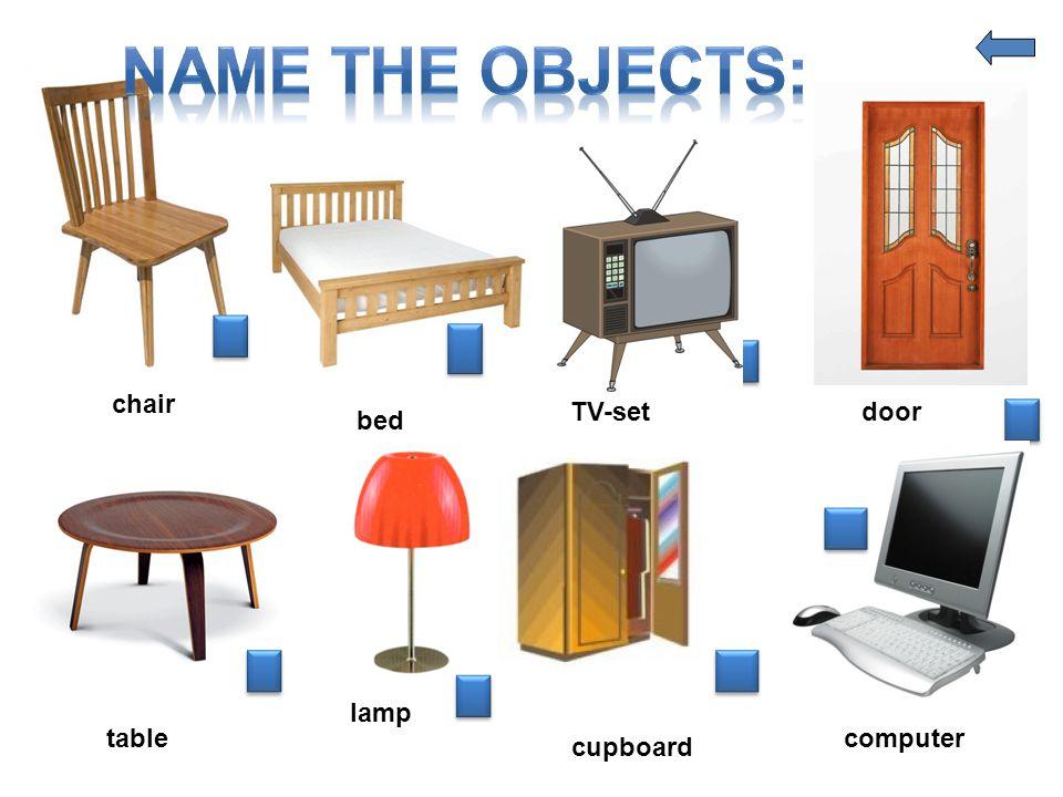 chair bed TV-setdoor table lamp cupboard computer