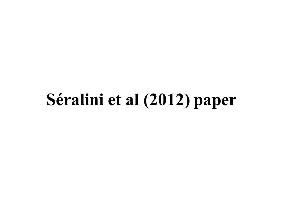 Séralini et al (2012) paper