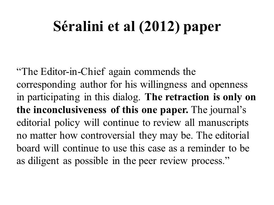 The Editor-in-Chief again commends the corresponding author for his willingness and openness in participating in this dialog.