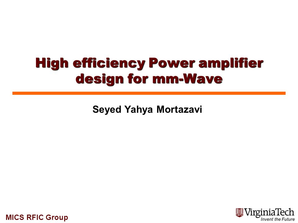 MICS RFIC Group Si-based mm-wave PAs 12 Frequency (GHz) Gain(dB)  CMOS And SiGe PAs  SiGe PAs Frequency (GHz) Gain (dB)
