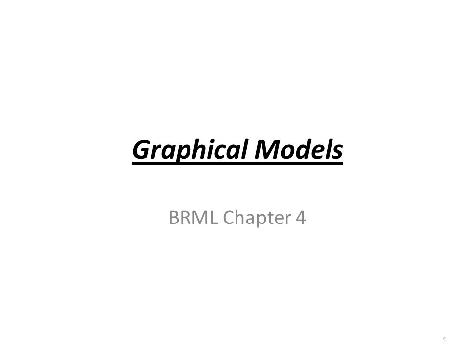 the zoo of graphical models Markov networks Belief networks Chain graphs (Belief and Markov ) Factor graphs =>they are graphical models 2