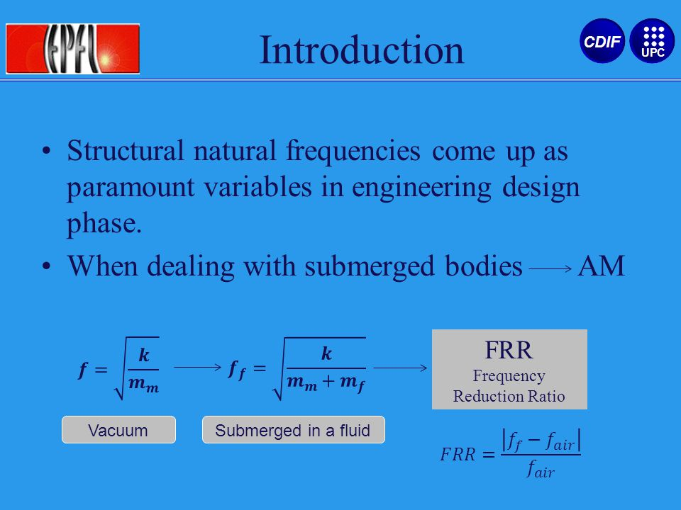 Structural natural frequencies come up as paramount variables in engineering design phase.