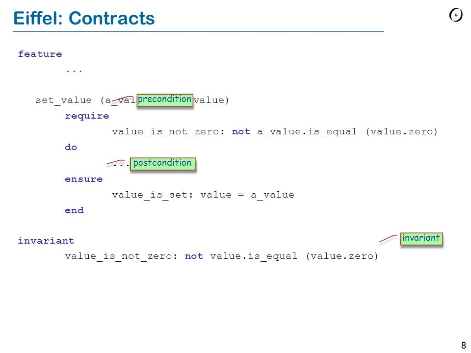 8 Eiffel: Contracts feature...