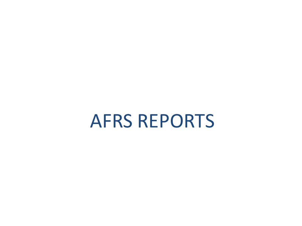 AFRS REPORTS