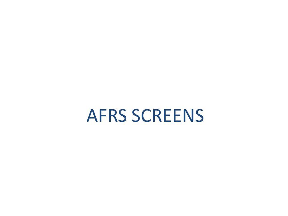 AFRS SCREENS