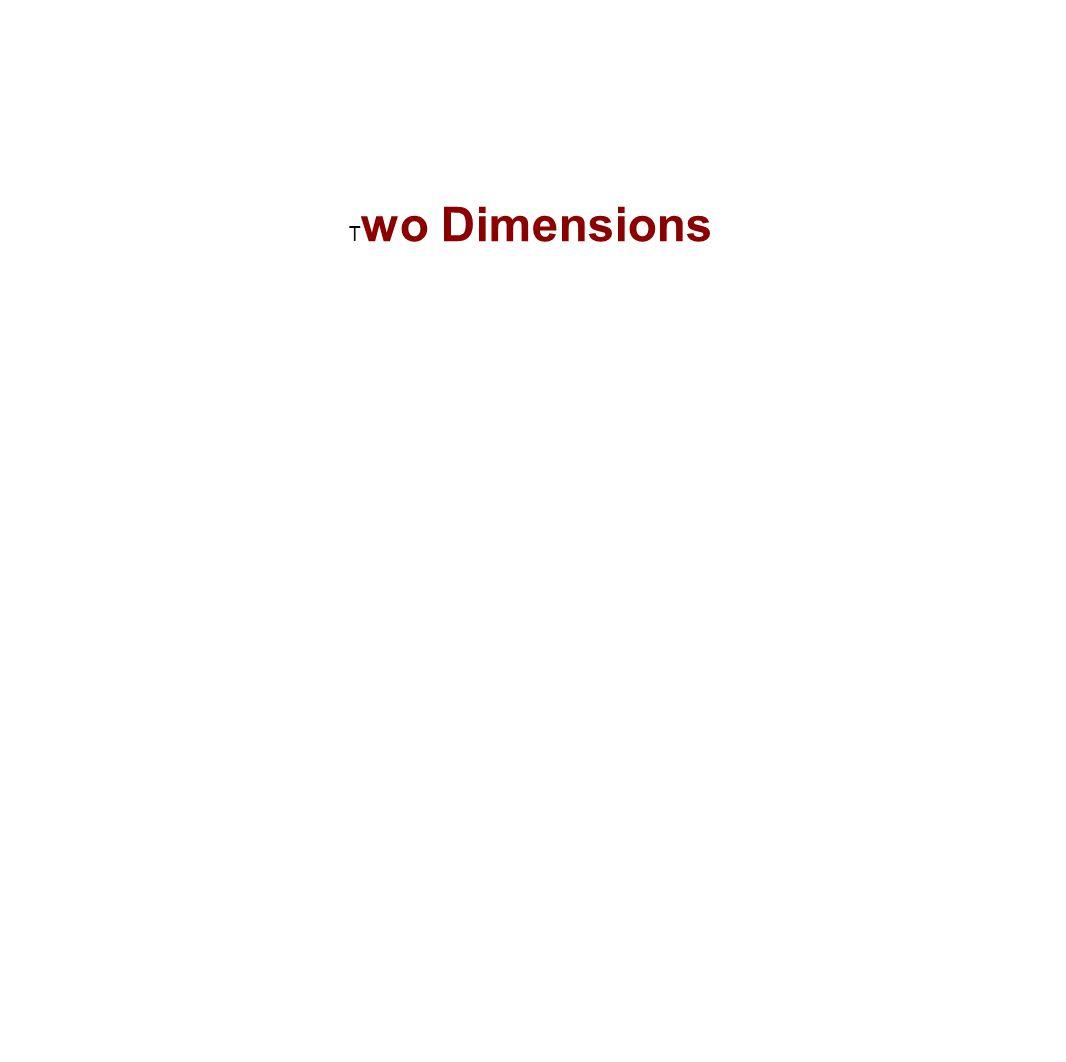 T wo Dimensions