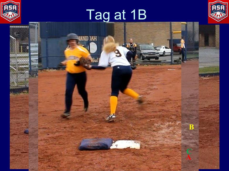 Tag at 1B A B C
