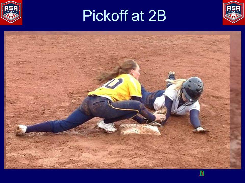 Pickoff at 2B AB