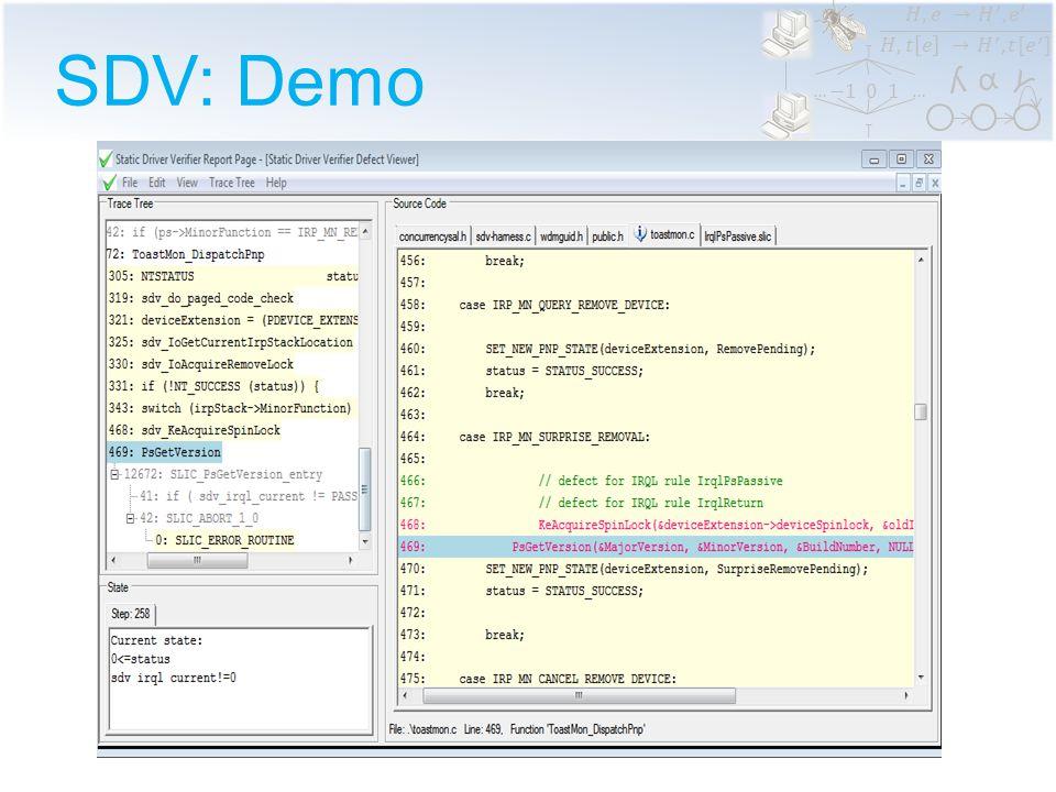 α ϒ ʎ …… SDV: Demo