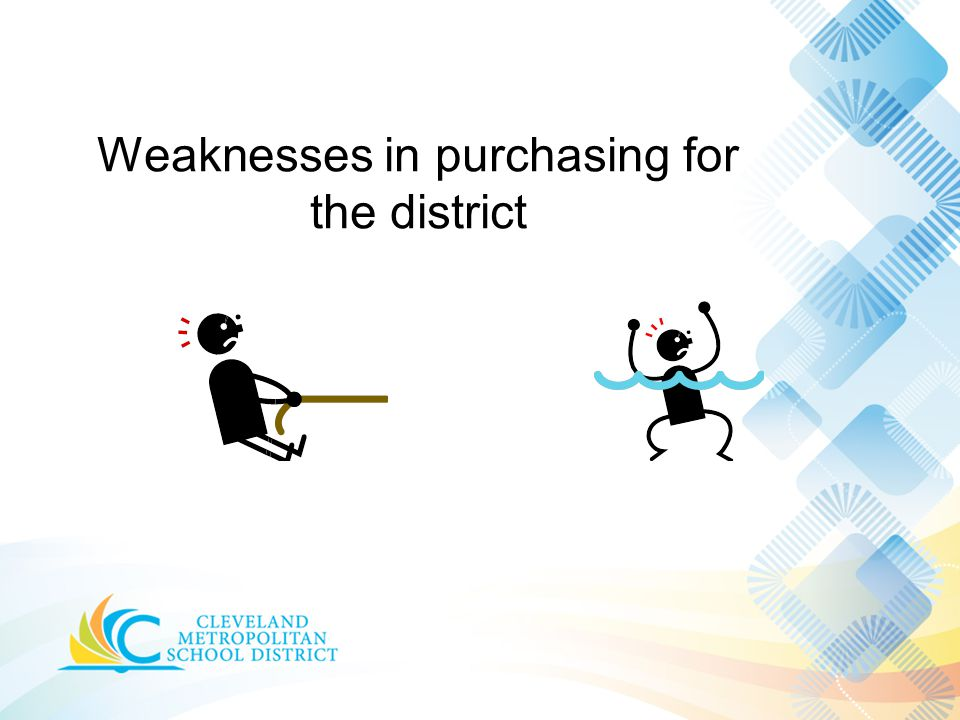 Weaknesses in purchasing for the district