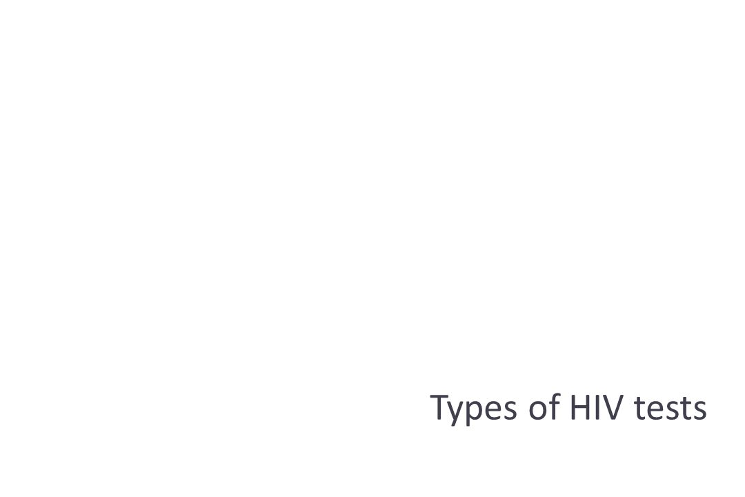 Types of HIV tests