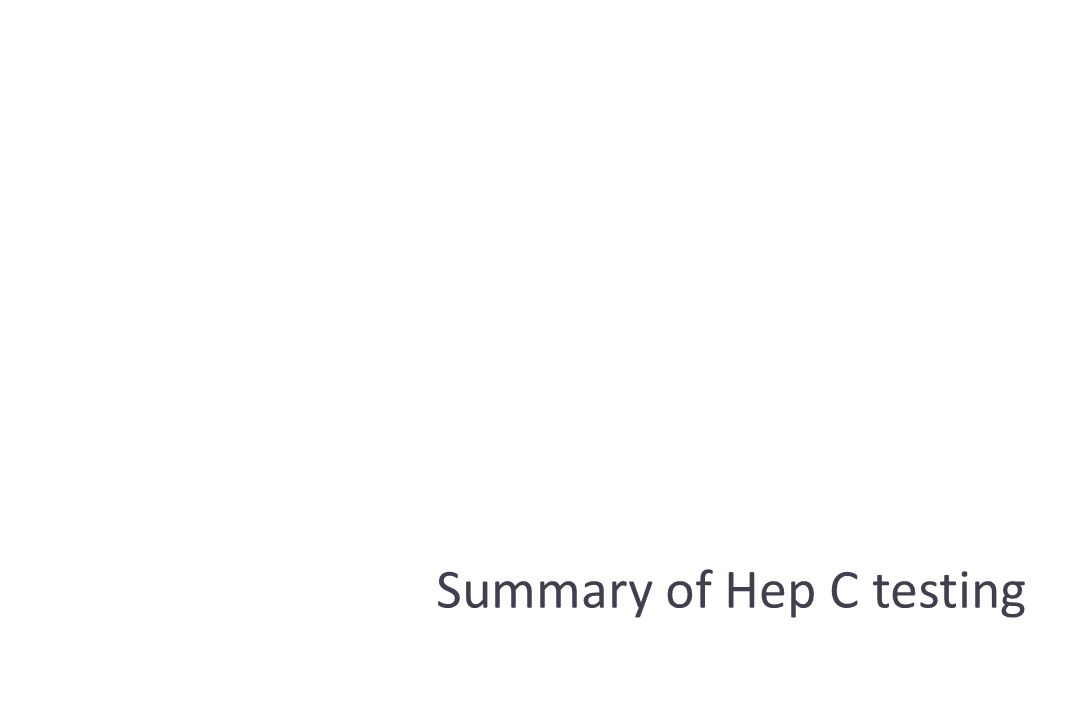 Summary of Hep C testing