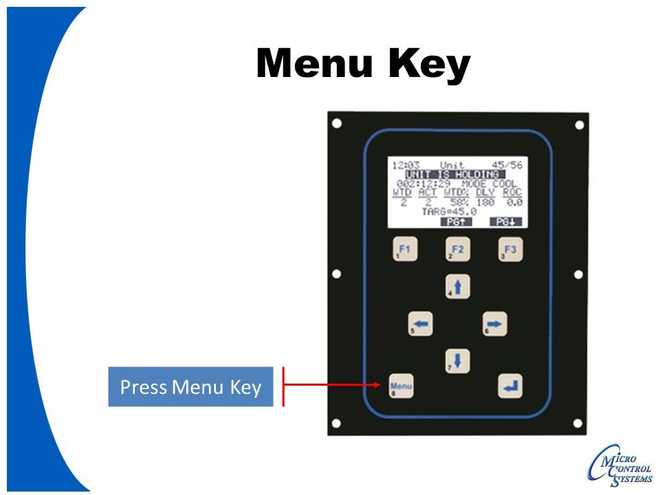 Menu Key Press Menu Key