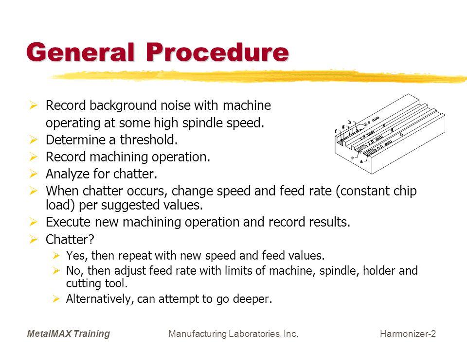 MetalMAX TrainingManufacturing Laboratories, Inc.Harmonizer-13 SETUP: Recording Preferences (F7).