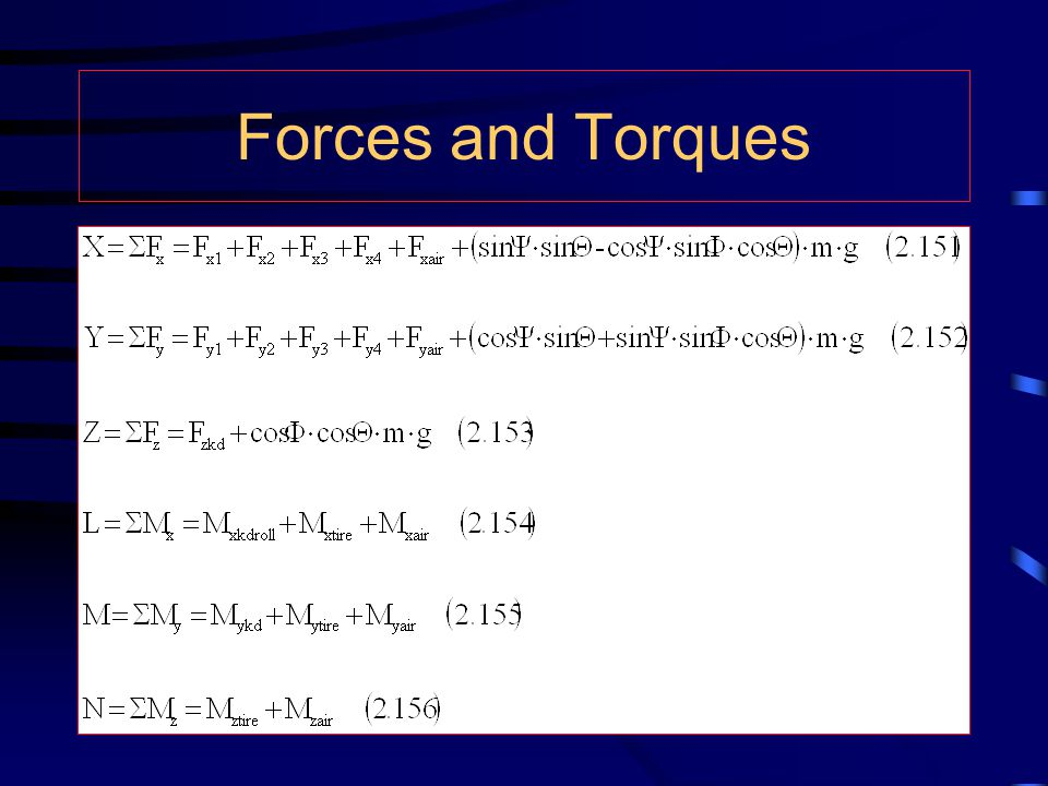 Forces and Torques