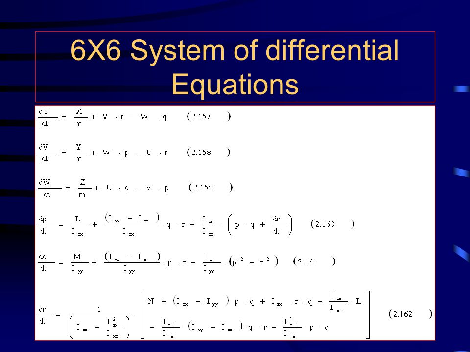 6X6 System of differential Equations