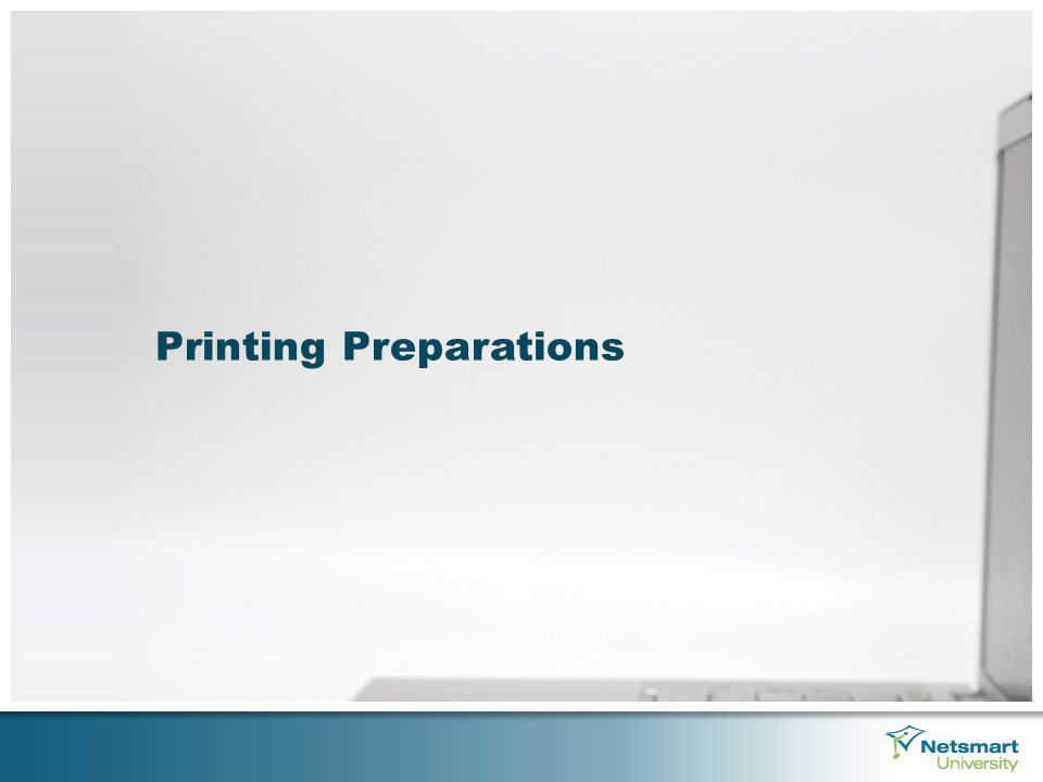 Printing Preparations