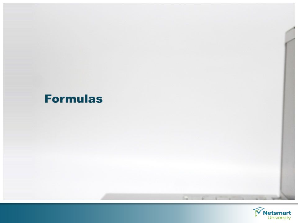 Understanding Formulas Formulas must always start with an equal sign (=) when typed out in Excel.