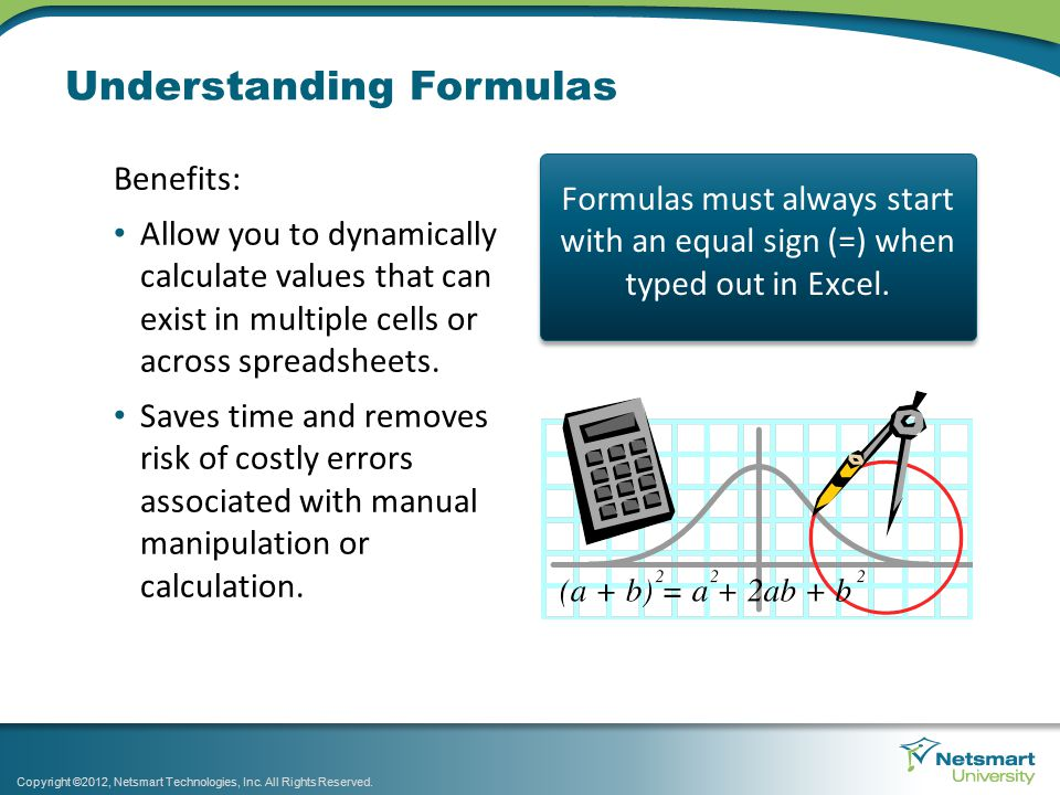 Working with Constants Creating a formula requires certain components to function.