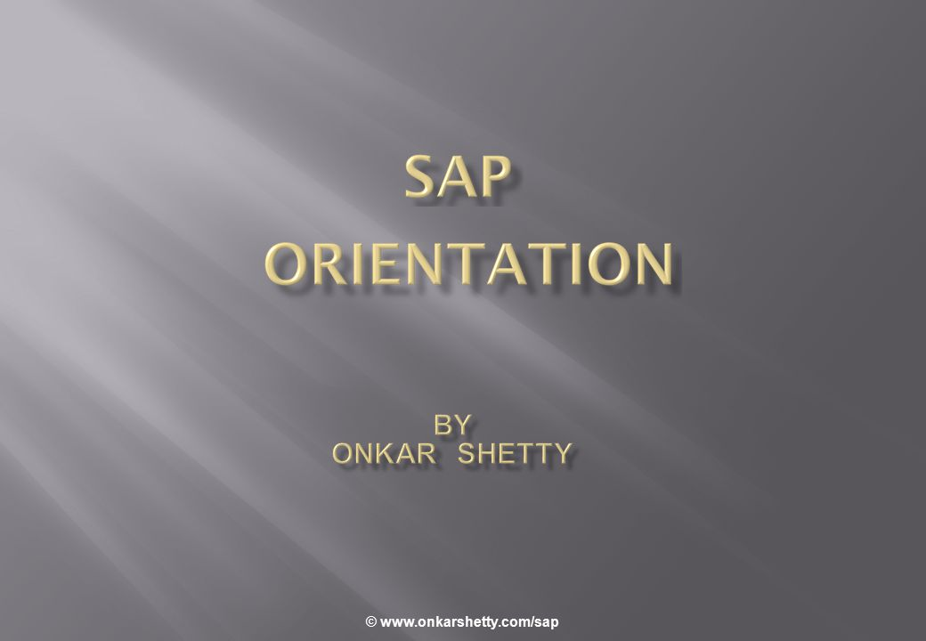 © www.onkarshetty.com/sap