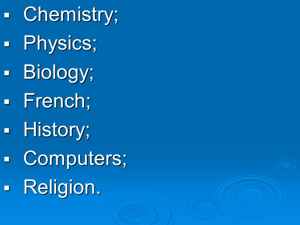 For a Science orientation: SSSStudents are strong in Mathematics, Physics, Chemistry, etc.