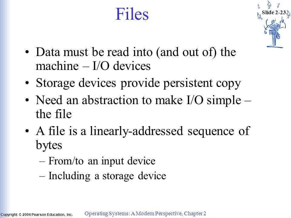 Slide 2-23 Copyright © 2004 Pearson Education, Inc.