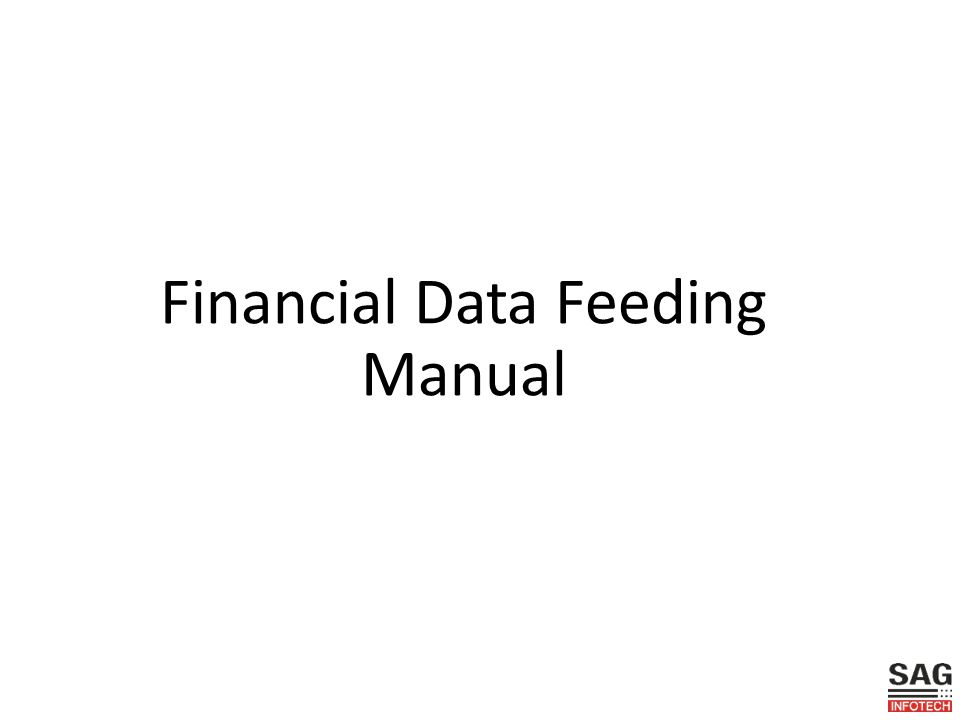 Financial Data Feeding Manual