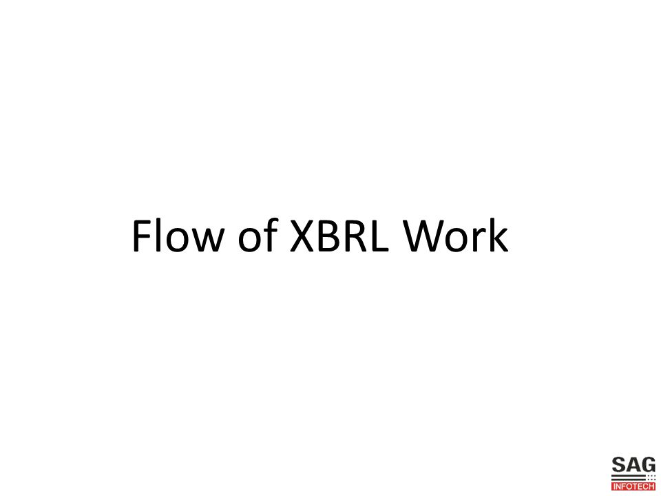 Flow of XBRL Work